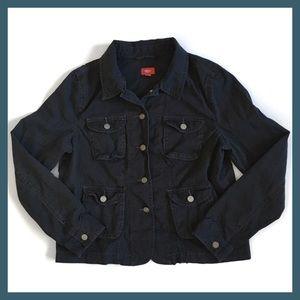 Mossimo Black Denim Jacket 4 Pocket 5 Button XXL